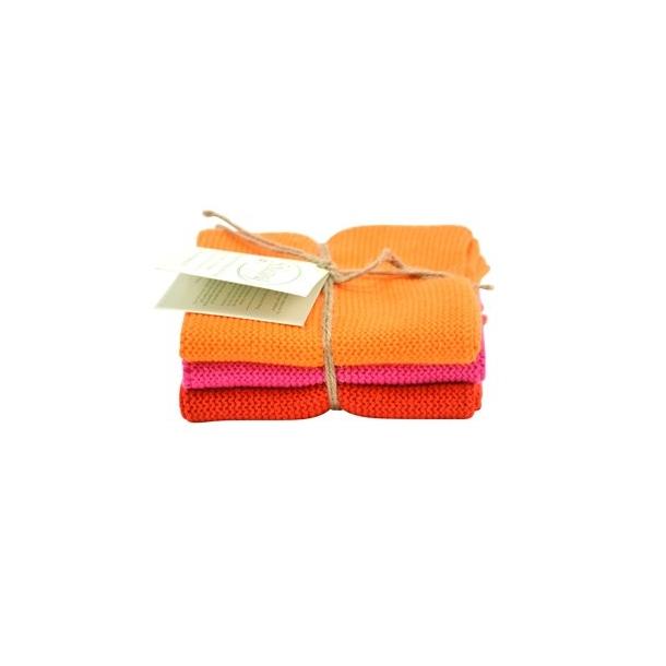Solwang karklude 3 stk. - Orange/pink/rød
