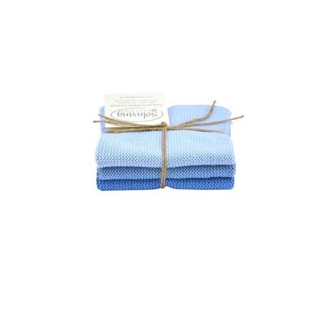 Solwang karklude 3 stk. Isblå kombi