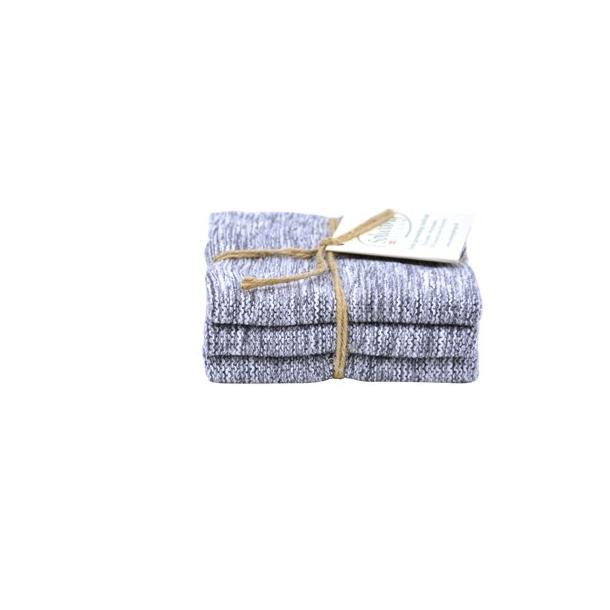 Solwang karklude 3 stk. - hvid/grå mix