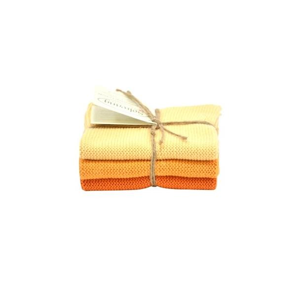Solwang karklude 3 stk. - Brændt Orange