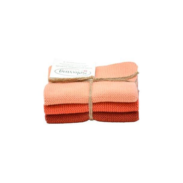 Solwang karklude - 3 stk -  Terracotta kombi