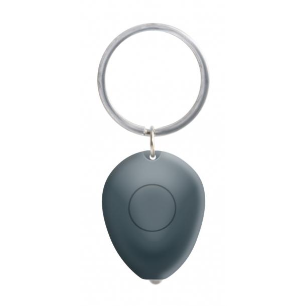 Nøglering Tiny med lys - grå