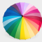 Paraply - MoMA, Color Wheel