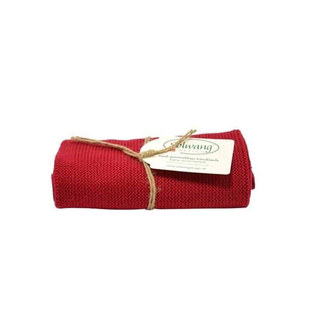 Solwang håndklæde - Varm rød
