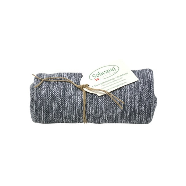 Solwang håndklæde - Grå/hvid mix