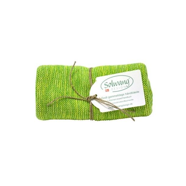 Solwang håndklæde - Grøn mix
