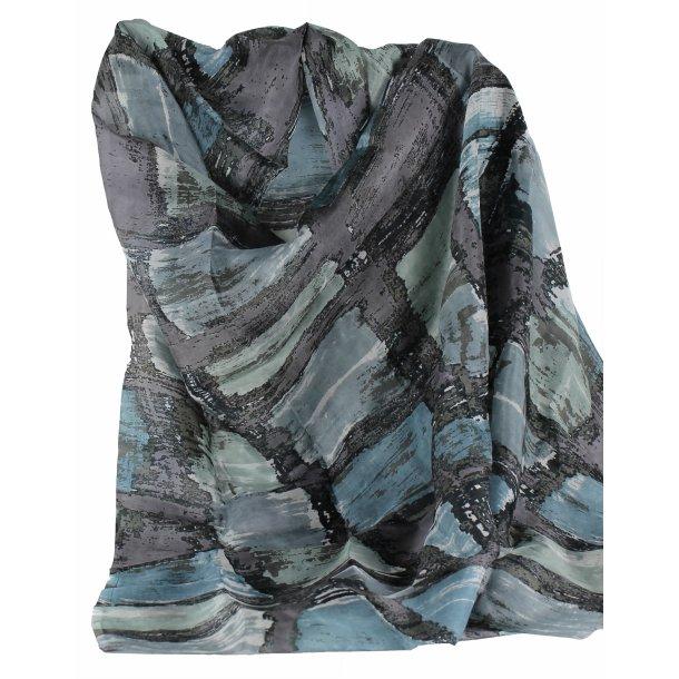 Tørklæde - 100% Silke - Summer rain