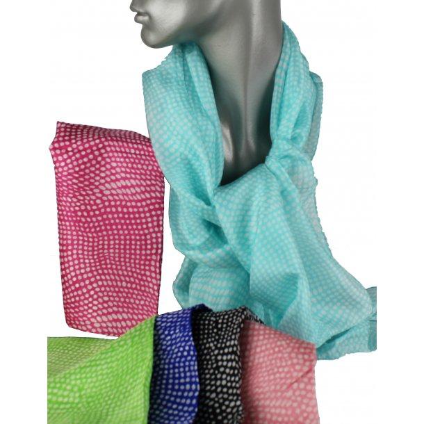 Tørklæde - 100% silke - dots