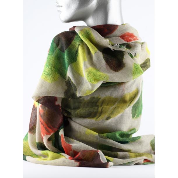 Tørklæde - 100% Uld, Paint Brush