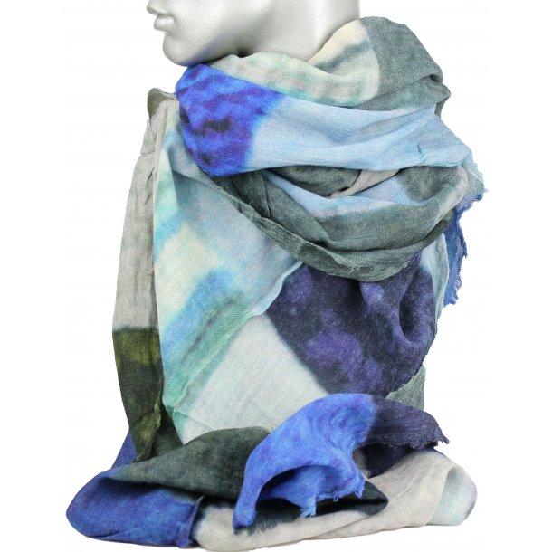 Tørklæde - 100% uld - Patchy
