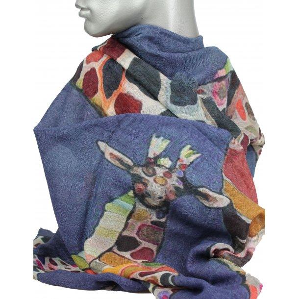 Tørklæde - 100% uld - Giraf
