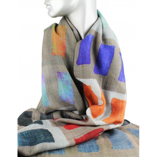 Tørklæde - uld/silke - Rectangle
