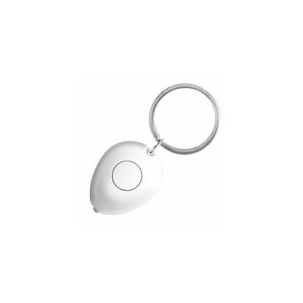 Nøglering Tiny med lys - hvid