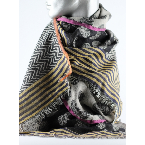 Tørklæde - Uld/modal, garn
