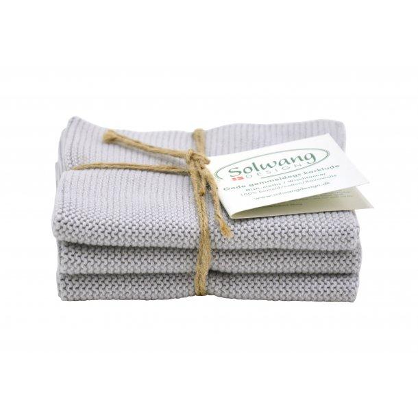 Solwang karklude - 3 stk -  Lyse grå