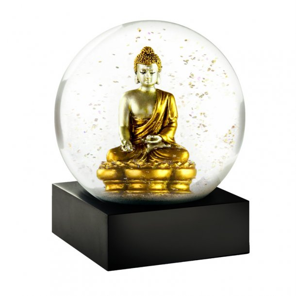 Snekugle fra CoolSnowGlobes - Buddha Gold