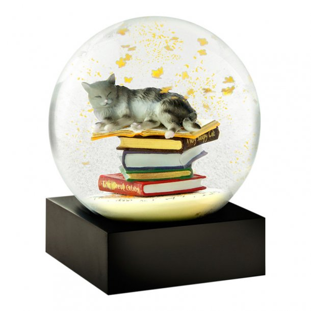 Snekugle fra CoolSnowGlobes - Cat on Books