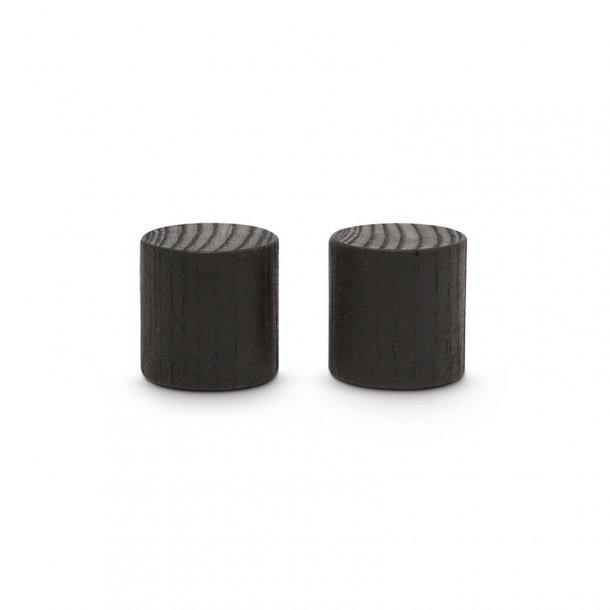 Superstærke neodyme magneter til Chat Board - sortbejset asketræ -  2 stk