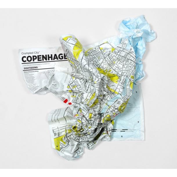Krøllet bykort over København