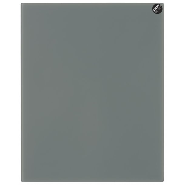 Chat Board - Eksklusiv magnetisk glastavle - Dark Grey