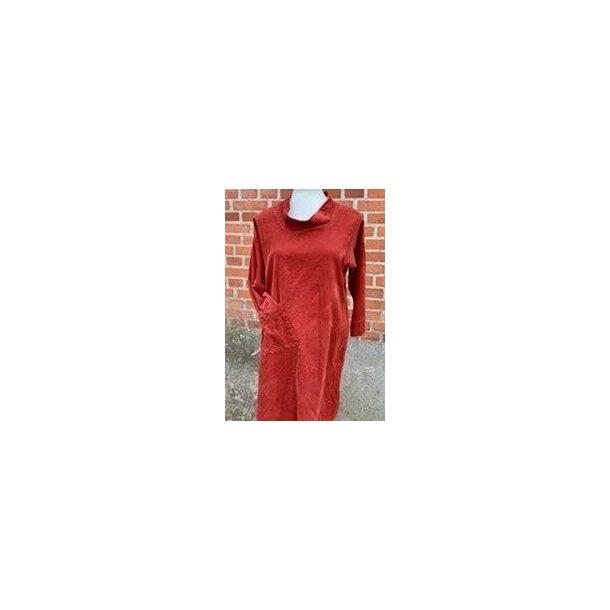 Tunika kjole i fløjl - Janne K - 100% bomuld - brændt orange