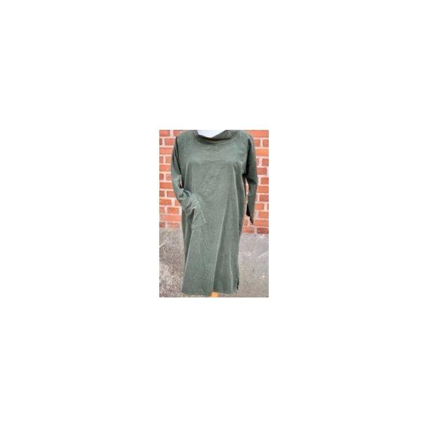 Tunika kjole i fløjl - Janne K - 100% bomuld - grøn