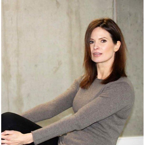 Bluse - Gorridsen, 100% cashmere,  model Luna, Cacao