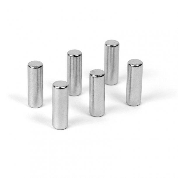 Superstærke cylinder magneter - 6 stk