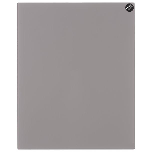Chat Board - Eksklusiv magnetisk glastavle - Metal Taupe