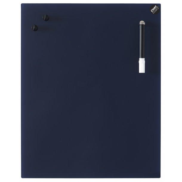 Chat Board - Eksklusiv magnetisk glastavle - Navy Blue