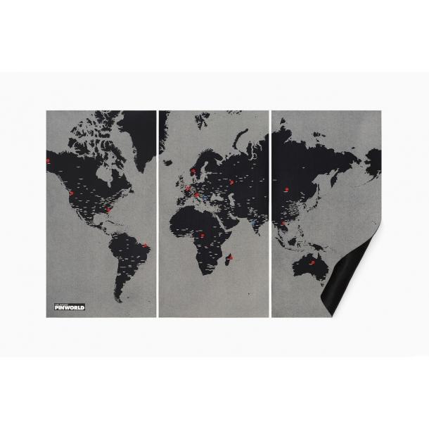 Pinworld verdenskort, xl