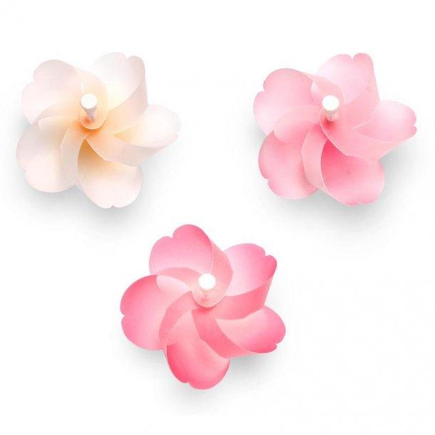Japanske kirsebærblomster - snurremølle magneter (sæt) - Kaze guruma