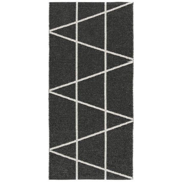 Tæppe fra Horredsmattan - Viggen - Sort