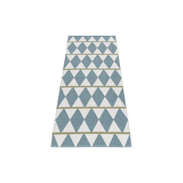 Tæppe fra Horredsmattan - Zigge - Blå