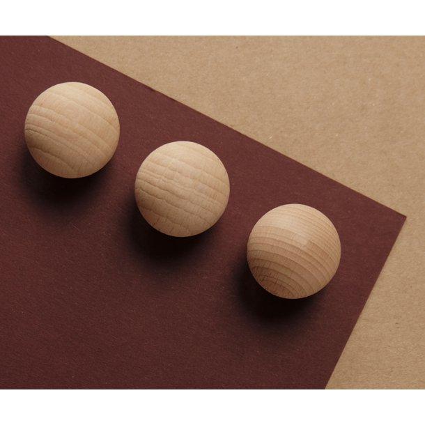Supermagneter i bøgetræ - 6 stk