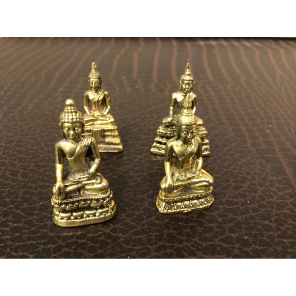 Buddhafigur i messing, mini 3-4 cm
