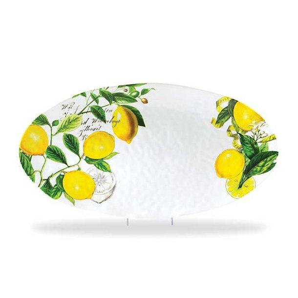 Ovalt fad i melamin - Lemon Basil