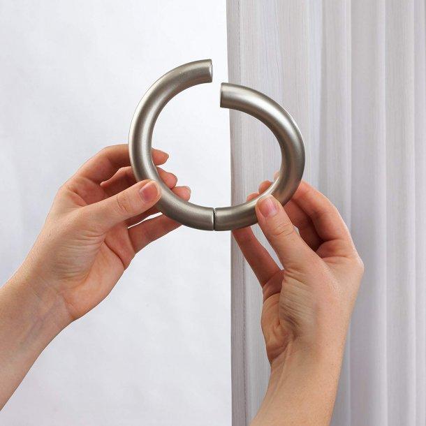 Gardinholder - Ring m/ magnetlukning - Halo - 2 stk.