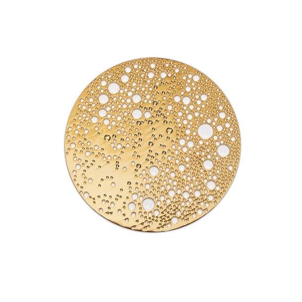 Broche med magnetlukning - Lunar, lille, guld