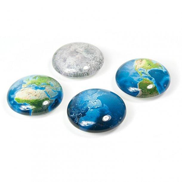 Magneter - Verdensdele - Glas