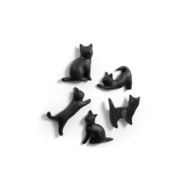 Magneter - Sorte katte - 5 stk