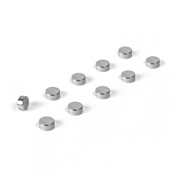 Super stærke magneter - Steely - krom - 10 stk
