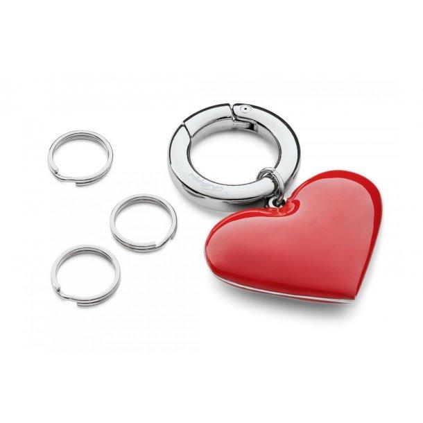 Nøglering - Hjerte med tre ringe