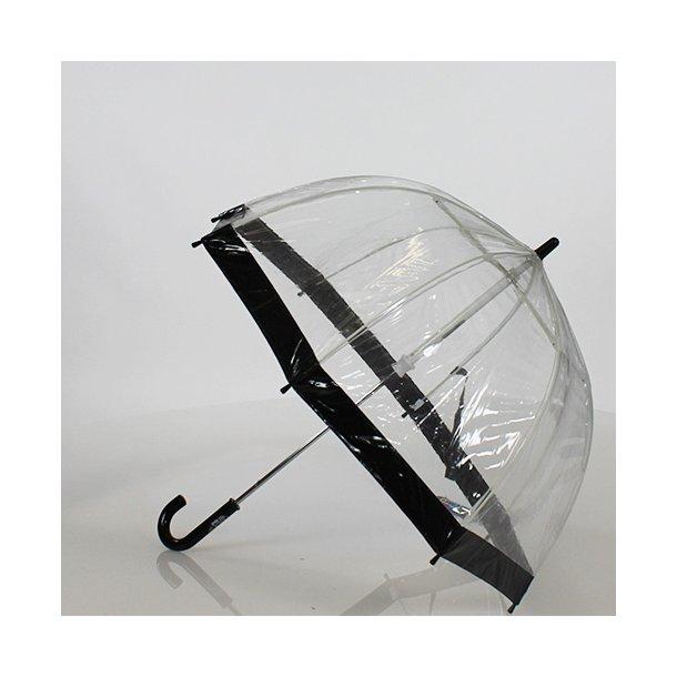Paraply - birdcage - gennemsigtig, str. xs