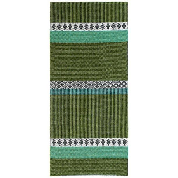 Tæppe fra Horredsmattan - Savanne - Grøn