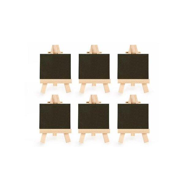 Bordkort - Små tavle staffelier - 6 stk