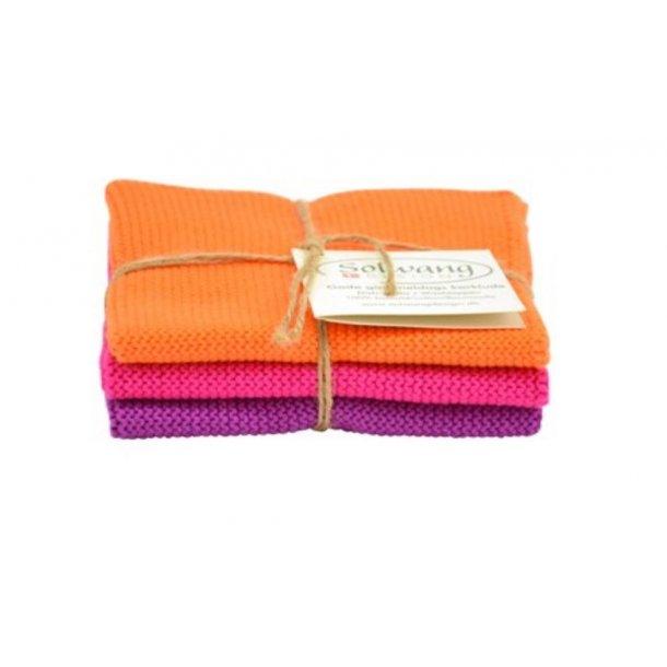 Solwang karklude 3 stk. - Orange-pink-lilla