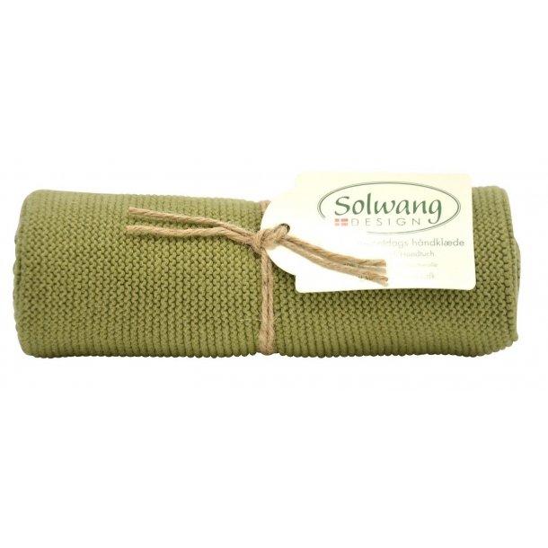 Solwang håndklæde - Mørk oliven
