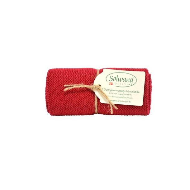 Solwang håndklæde - Dyb rød