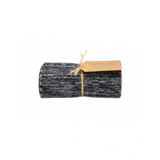 Solwang håndklæde -  Sort/Natur Multi